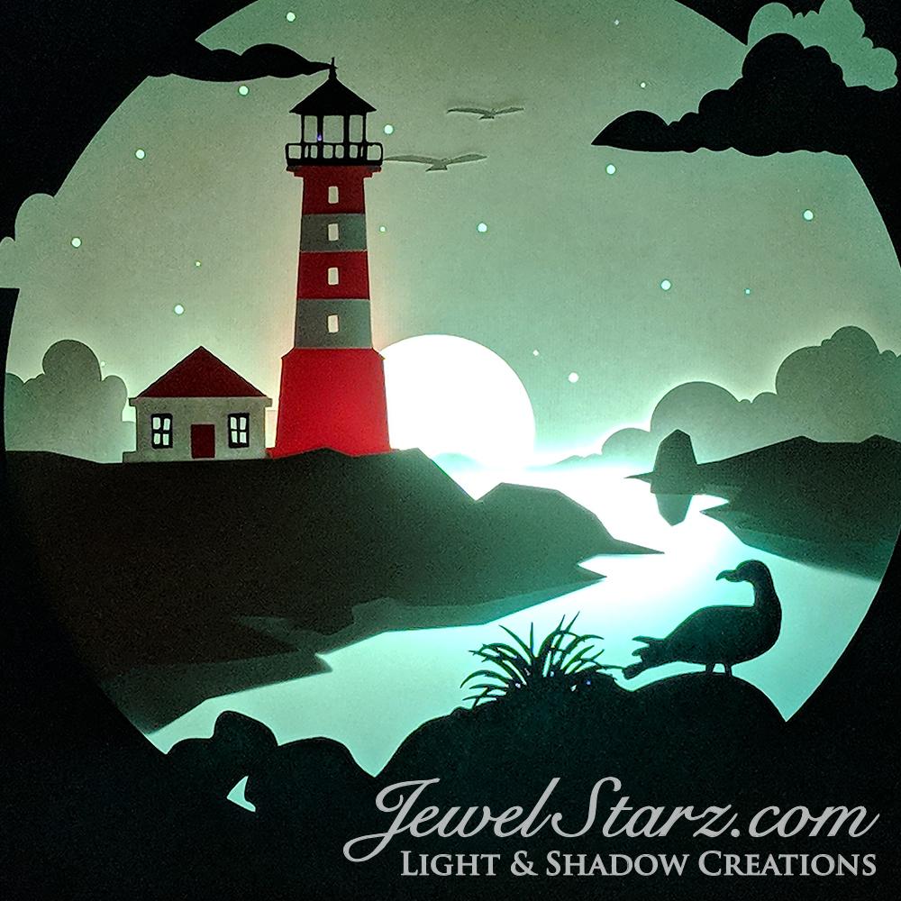 Lighthouse at Night | Lights On